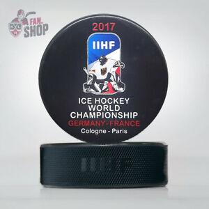 2017 Cologne Paris Germany France World Championship ice hockey puck IIHF