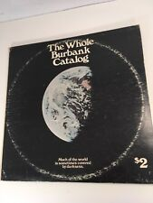 2 LP The Whole Burbank Catalog 1972 Sampler Vintage PRO 512 Rare Rock & Insert