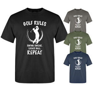 Golf Rules Golfer Slogan Funny Graphic Dad Uncle Gift New Mens T-shirt
