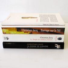 Christian Jacq - Lot de 4 romans - Barrage sur Le Nil - La Pierre de Lumière -