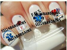 PARAMEDIC EMS SAVE LIVES》EMT》AMBULANCE》AMBO》RED LIVES MATTERS》Nail Art Decals
