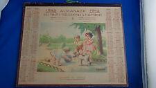 ancien calendrier 1943 ptt almanach des postes enfants au jardin paris breuzard