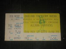 ALLMAN BROTHERS BAND ORIGINAL 1979 TICKET STUB**OAKLAND COLISEUM ARENA 5/17/79**