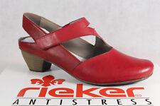 Rieker Damen Slingback Pumps Grau Sandalette Sommer Schuhe Leder 58063 90 NEU | eBay