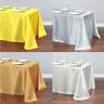 Rectangle Satin Tablecloth Christmas Wedding Party Table Cloth Covers Home Decor