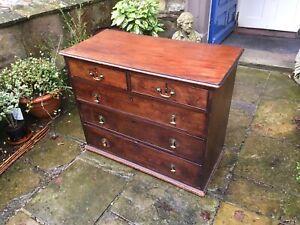 Georgian oak chest of drawers