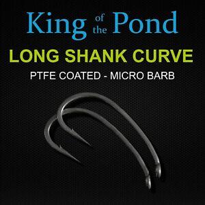 Long curve shank carp hooks, strong & sharp hooks x10, carp fishing, carp rigs