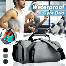 Men Waterproof Nylon Fitness Holdall Sport Gym Bag Travel Duffel Luggage