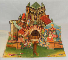 Vintage Panascopic Kubasta Pop-Up Stand-Up Book The Castle Tournament Artia 1961