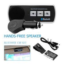 Magnetic Wireless Bluetooth Handsfree Car Kit Speaker Phone Slim Visor Clip UK