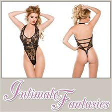 Lace Wetlook Teddy Dominatrix Outfit Sexy See Through Lingerie Size 8 10 12