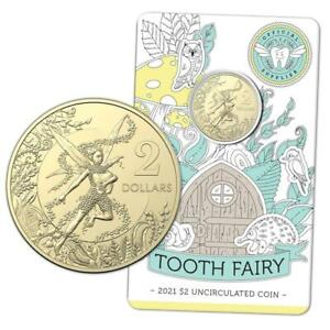 2021 Australia Tooth Fairy $2 Uncirculated Coin - Carded