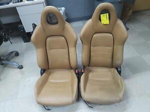 2004 S2000 FRONT SEATS (PAIR LH/RH) TAN LEATHER SLIGHTLY NICE MINOR WEAR