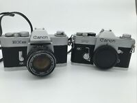 Canon FT QL 35mm SLR Film Camera & Canon EXEE **FOR PARTS OR REPAIR**