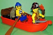 LEGO - Pirates - Pirate Boat Treasure Chest Accessory - 2x Minifigures & Parrot