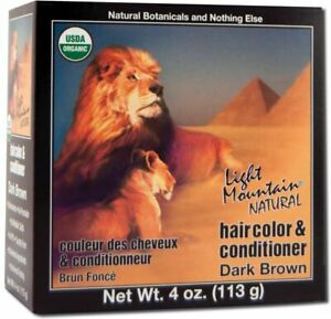 Natural Hair Color & Conditioner Dark Brown by Light Mountain, 4 oz