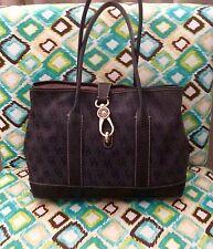 Dooney & Bourke Handbag Anniversary Signature Satchel Purse Pre-owned Black