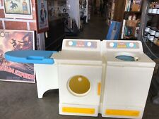 Little Tikes vintage washer dryer combo set ironing board