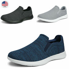 Mens Slip on Loafers Walking Shoes Daily Wear Sneakers Size 6.5-13