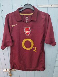 Arsenal Football Shirt 2006 Redcurrant Small Nike O2