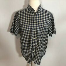 Eddie Bauer Men Short Sleeve Casual Button Down Shirt Top Size Medium Plaid D43