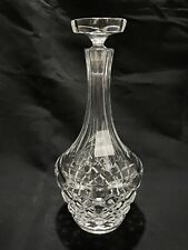 """Vintage Cut Crystal Decanter w/ Octagon Stopper 10-1/4in"""" Tall"""