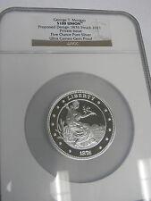 George T. Morgan $100 Union 1876 Design Struck 2011 Silver Coin