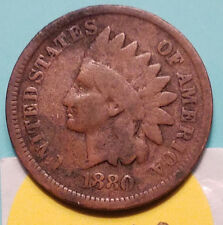 1880 P INDIAN HEAD  PENNY ITS A ORIGINAL COIN NOT A STOCK PICTURE LOT N762 ERROR