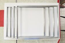 Picture Frames_Aluminum_Size:16x2 0in./x4 frames_Completew/Hardware (no glass)