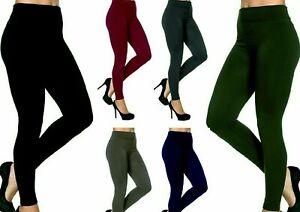 Womens Leggings Warm Fleece Tummy Control Lined High Waist Size Ladies leggings