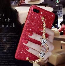 Luxury Bling Glitter Diamond Leopard Bracelet Case Cover for iPhone 8/X/6/7 Plus
