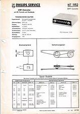 Service Manual-Anleitung für Philips NT 1152,UHF Converter