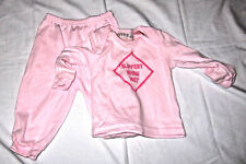 Kidgets 3/6 months pink Slippery When Wet 2 piece outfit
