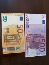 500 euro banknote 2002 Series. 500 + 50 Euro Banknotes. 550 Euros Total. Cir. Dt