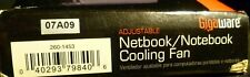 Gigaware Adjustable Notebook Cooling Fan PC-MAC USB New Sealed Opened Box