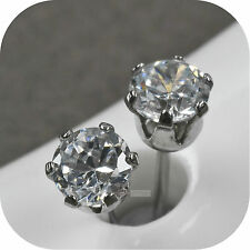 stud stainless steel earrings 5mm 0.5ct made with SWAROVSKI crystal
