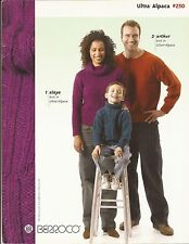 Berroco Knitting Pattern Book #250 Ultra Alpaca Men Women & Children