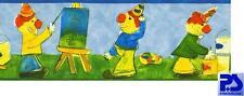 05908-20-13) Kinderzimmer Tapeten Borte Bordüre CLOWNS BUNT SUPER
