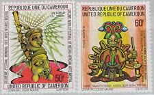 CAMEROUN KAMERUN 1977 834-35 627 C239 2nd World & African Art Festival Kunst MNH