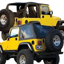 2004 2005 2006 soft top Jeep Wrangler UNLIMITED framelesS TOP header+tailgatebar
