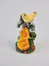 Fairy Garden Miniature Decor Water Faucet W/ Flower Bird Resin Figure Brand New
