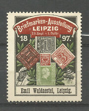 Germany/Leipzig 1897 Stamp Exhibition poster stamp/label