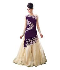 Dress Gown For Women Evening Party Long Dress Purple India Pakistani Formal Prom