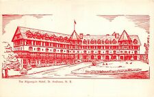 ST ANDREWS NEW BRUNSWICK CANADA  THE ALGONQUIN HOTEL~LINE DRAWING POSTCARD 1960s