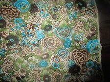 "Ladies Vintage Silk Scarf Square 21""x 21"" Anne Fogarty Blue Floral"