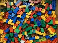 100 random lego duplo1X2X2 2X2 2X3 2X4 block plate curved bricks