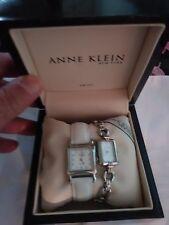 Anne Klein New York Women's Watch Set Swiss Square Rectangular