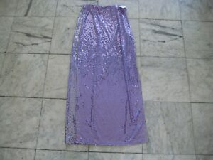 New PURPLE disco dots Long Skirt Size XS, S, M Frederick of Hollywood FREE S&H