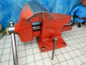 "Bench vise 4"" WILTON SCOUT swivel vintage gunsmith anvil  tool USA"
