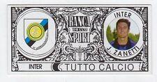figurina - TUTTO CALCIO EURO MONETE  - INTER J. ZANETTI